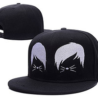 HEJIAXIN Dan and Phil Cat Whiskers Logo Adjustable snapback Embroidery Hats Caps