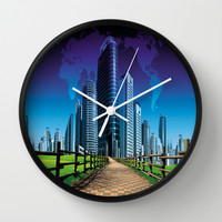 Way to the city Wall Clock by LessaKs Art