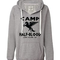 Small Lime Womens Camp Half-Blood Deluxe Soft Hoodie