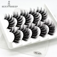 SEXYSHEEP  5Pair 3D Mink  Eyelashes Natural/Thick Long Lashes