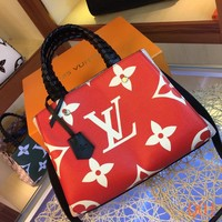 HCXX 19Aug 024 LV M44671 Louis Vuitton Montaigne BB Fashion Casual Flight Bag Hight-capacity Handbag Size 33-23-15CM Red