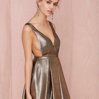 Precious Metals Fit and Flare Dress
