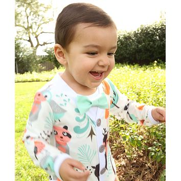 Wild One Boho First Birthday Outfit Boy Cardigan Bow Tie
