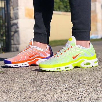 NIKE AIR MAX PLUS PRM Fashion New Hook Women Men Running Leisure Shoes