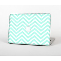 "The Light Teal & White Sharp Chevron Skin Set for the Apple MacBook Pro 13"" with Retina Display"