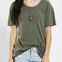 Urban Outfitters - Truly Madly Deeply Open-Back Washed Tee