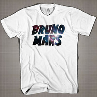 BRUNO MARS Galaxy  Mens and Women T-Shirt Available Color Black And White