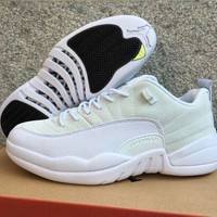 Air Jordan 12 Retro Low AJ 12 White Men Women Basketball Shoes