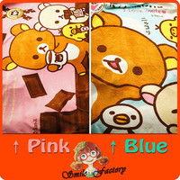 Rilakkuma San-X Cute Plush Bear Coral Fleece Blanket 1pcs Free shipping