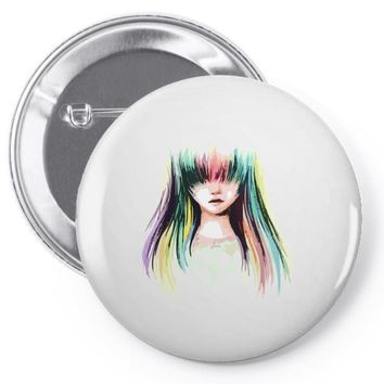 color girl Pin-back button