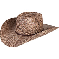 3-Tone Brown Hereford Rodeo King Straw Hat
