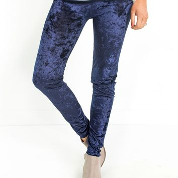 Joyce Crushed Velvet Leggings | S/M-L/XL