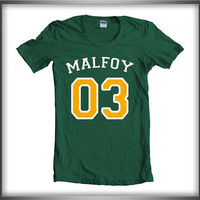 Malfoy 03 Yellow ink inside Draco Malfoy Harry Potter Women Tee Tshirt Forest Green