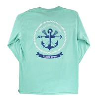 Long Sleeve Green Anchor Shirt | Lacrosse Unlimited