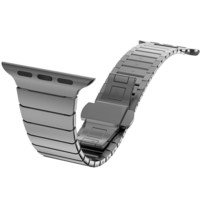 Butterfly clasp Lock Link loop band stainless steel for Apple Watch band link bracelet strap 38 40 42 44mm