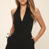 Anticipation Black Romper