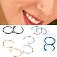 Tanyoyo 10pcs/set Stainless Steel Nose Stud Nose Hoop Earring Ring Body Jewelry Piercing Jewelry