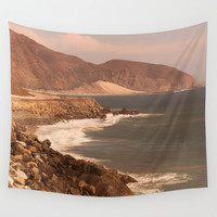 California Tapestry, Beach Tapestry, Ocean Tapestry, Pacific Coast Hwy, Malibu Tapestry, College Dorm Room Decor, Apartment Decor