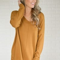 Hold On To Me Sweater ~ Mustard