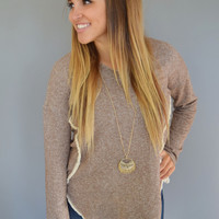 Star Dust Fringe Sweatshirt Mocha