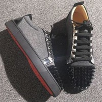 DCCK Cl Christian Louboutin Low Style #2059 Sneakers Fashion Shoes