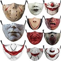 Halloween Horrible Killers Pennywise Jason Voorhees Michael Myers Leatherface Cosplay Face Mask Adult Kids Dustproof Scary Masks