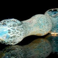 Nebula Eternus - Ghost Fumed 3-D Honeycombed Pattern - Heady Color Changing Glass Smoking Pipe Gold Silver Fuming