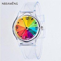 Transparent Silicon Women Sport Casual Watch