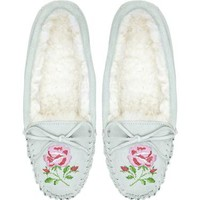 Cath Kidston -  Floral Embroidered Sheepskin Slippers