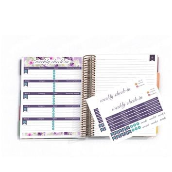 "April Weekly Check-In Kit, Personalized Planner, Planner Stickers For Erin Condren Deluxe Monthly Planner,7x9"" & 8.5x11"":  SQ-09"