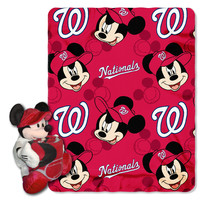 "Nationals - Disney 40X50 Fleece Throw W/ 14"" Plush Mickey Hugger"