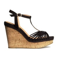 Sandals with Wedge Heel - from H&M