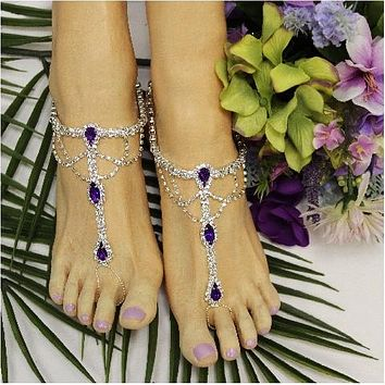 SOMETHING PURPLE  barefoot sandals - amethyst
