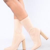 King Of Me Boot - Nude