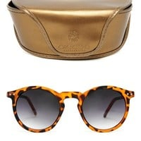 Pieces Siwi Round Sunglasses in Tortoise Shell