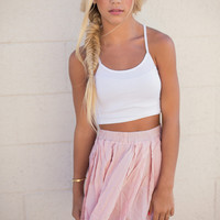 Julie Solid Crop Tank