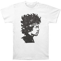 Jimi Hendrix Men's  Hendrix Headband Slim Fit T-shirt White