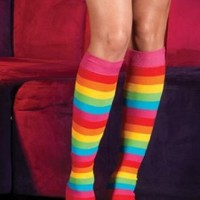 Leg Avenue Rainbow Leg Warmers Multi-color One Size Fits Most