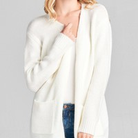 Windy City Cardigan in Off White