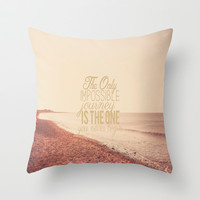 The Only Impossible Journey Throw Pillow by Secretgardenphotography [Nicola]