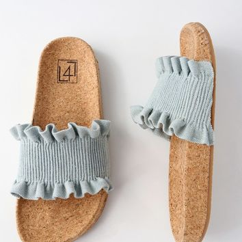 Alexa Denim Slide Sandals