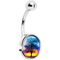 Sunset Tree Belly Ring | Body Candy Body Jewelry