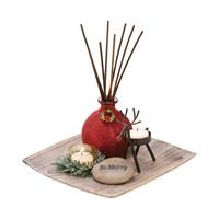 Merrily Reed Garden Antique Palonia,Red,Rustic,Cham