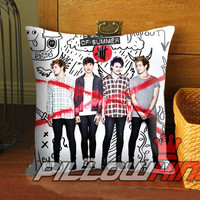 5sos high school collage - Pillow Case 18 x 18 inch - 1 Side / 2 Side