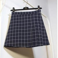 New Style Plaid Pleated Skirt for Woman size sml