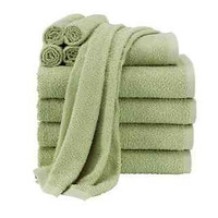 10-Piece Towel Set Green Bathroom College Soft Highly Absorbent 100% Cotton