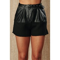 I'm A Masterpiece Faux Leather Shorts (Black)