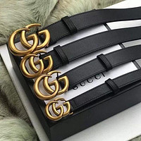 Dior GG G fashion hot style classic gold buckle lovers style belt