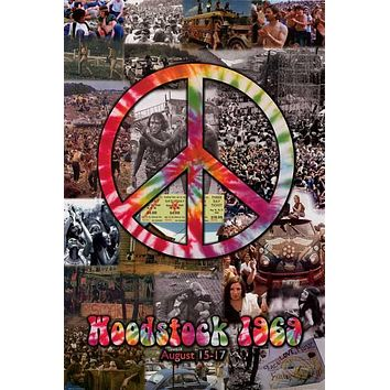 Woodstock Peace Collage Poster 24x36