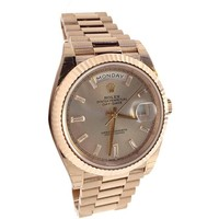 Rolex Day-date 40mm Sundust Set With Diamonds Dial Rose Gold Men's Watch 228235